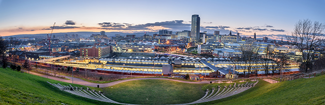 Panorama of Sheffield city