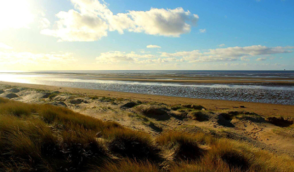 Ainsdale beach in Southport