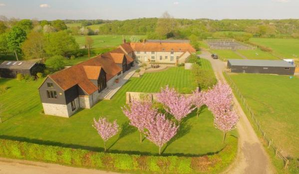 Barn conversion in Buckinghamshire surrounded by 35 acres of land