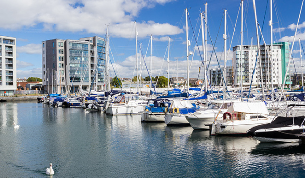 Sutton Harbour Marina in Plymouth