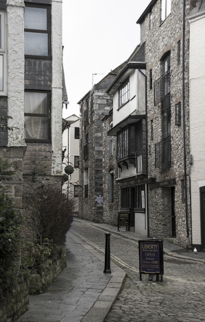 Ally way in Barbican, Plymouth