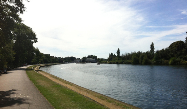 The River Thames flowing through Kingston-upon-Thames
