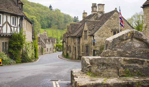 Quaint town of Castle Combe in the Cotswolds
