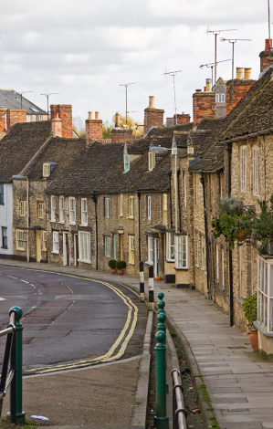 Traditional terraced houses in Wiltshire