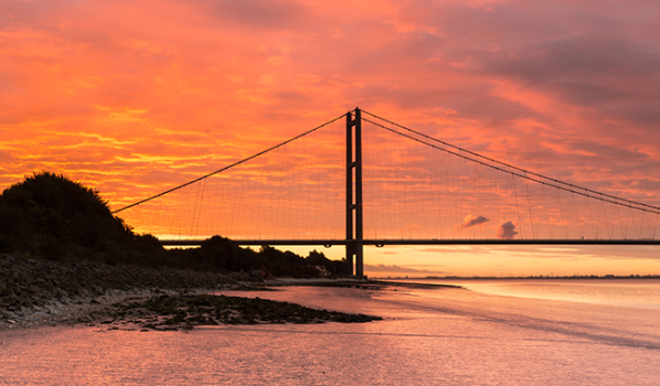 Humber Bridge at sunrise