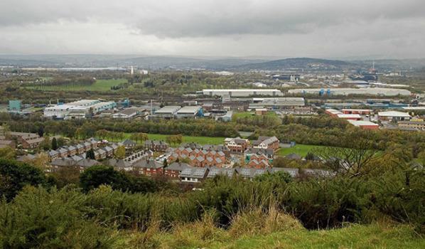 Panoramic view of Rotherham