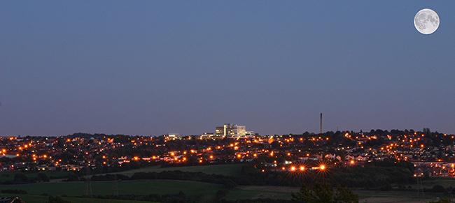 Barnsley at night