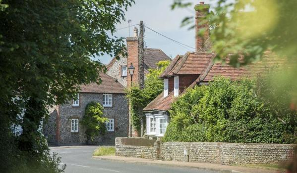Traditional houses in a West Sussex village