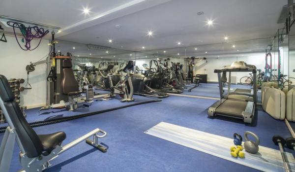 Spacious gym.