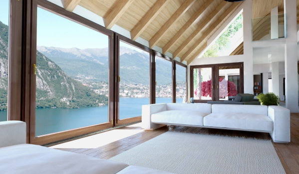 Room with a view in Como, Italy.