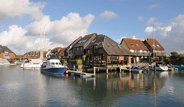 Waterside houses in Southampton