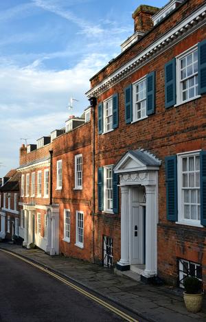Georgian houses in Hatfield, Hertfordshire
