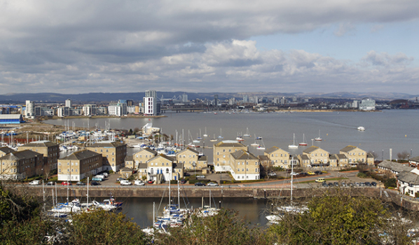 A view of Cardiff Bay