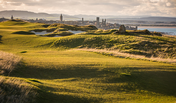 Golf course overlooking St Andrews