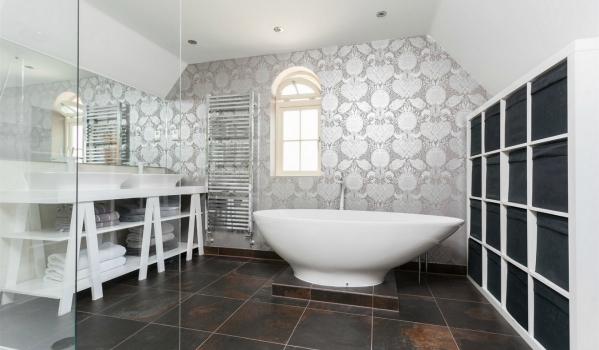 Create a focal point, such as standalone bath.
