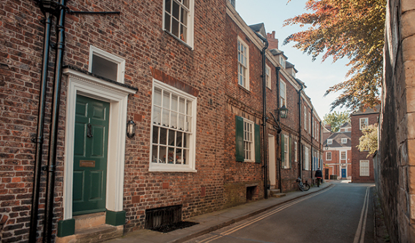 A street in York with period properties