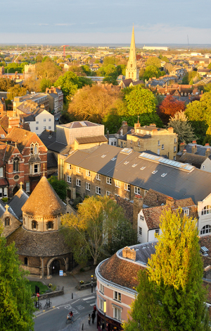 Aerial view of Cambridge
