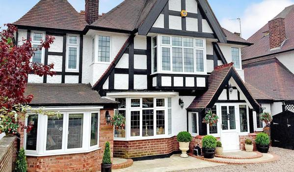 Detached mock tudor house with its own cattery