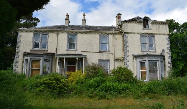 A derelict country manor house