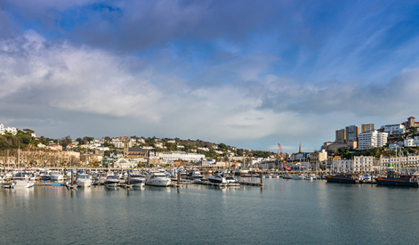 View of Torquay from the harbour