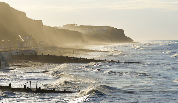 The beach and cliffs at Cromer
