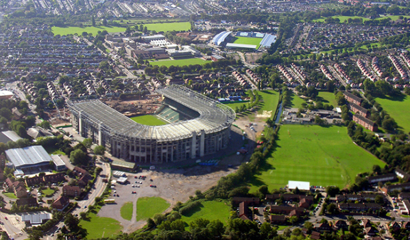 Twickenham Stadium during redevelopment