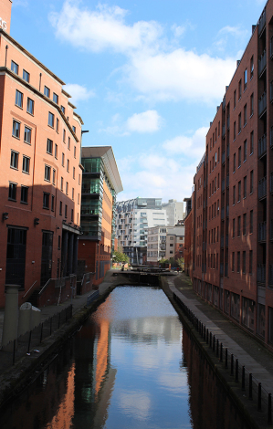 Canal in the heart of Manchester