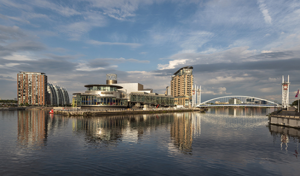 Panoramic picture of Salford Quays