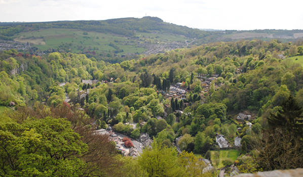 Houses in the hills of Matlock