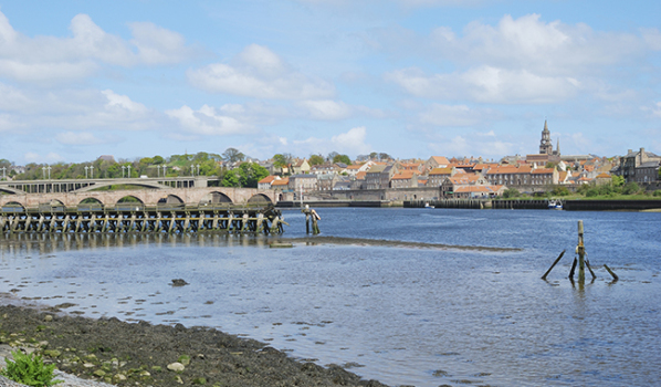 The estuary of the River Tweed in Berwick-upon-Tweed