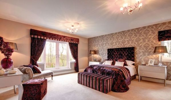 Luxurious bedroom in a detached house in Kilmaurs