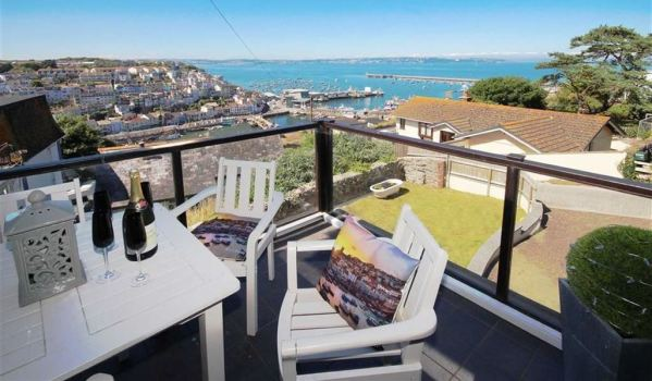 The view from the Balcony of a detached house in Brixham