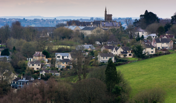 North East Bath, seen from Charlcombe