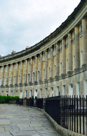 Georgian houses in the Royal Crescent