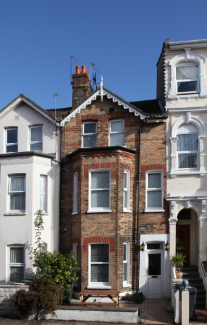 A brick Victorian house in Bournemouth