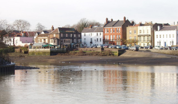 Period houses on the riverfront in Isleworth