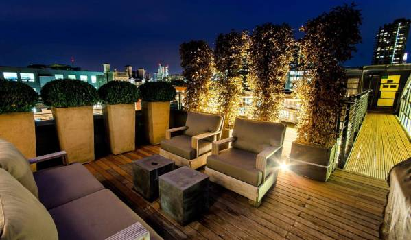 A luxurious roof terrace in Clerkenwell