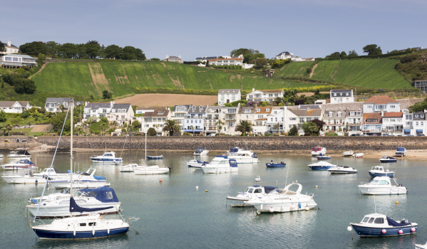 Marina in Gorey town, channel islands
