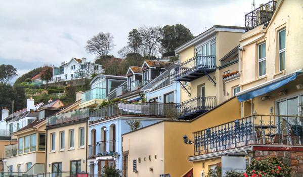 Hillside homes in Jersey