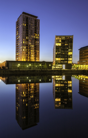 Modern architecture in Salford Quays Manchester