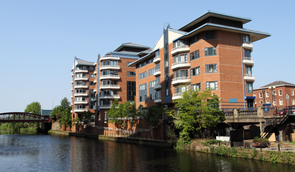 Modern Apartments on River Irwell