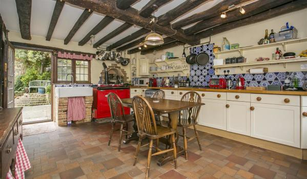 Tradditional country kitchen with Aga and original bread oven