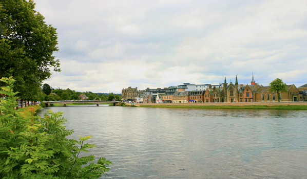 Buildings along the River Ness in Inverness