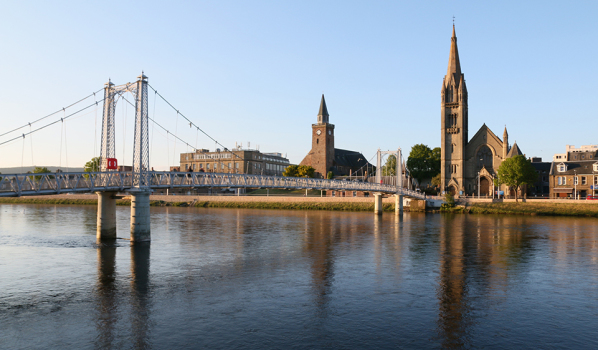 Greig Street Bridge over the River Ness in Inverness