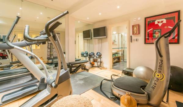 The gym of a six-bedroom detached house in Hampstead