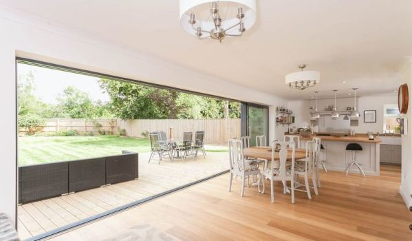 A huge open plan kitchen/dining/living space in a five-bedroom house in Seer Green