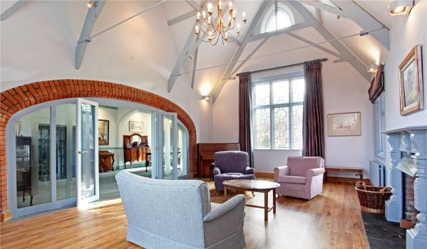 Drawing room in a converted school