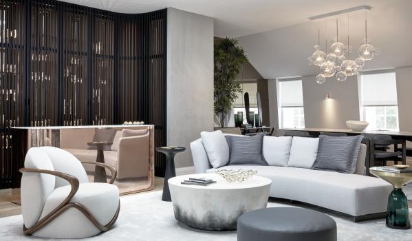 Penthouse living area.
