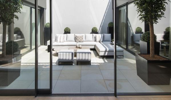 Outdoor terrace.