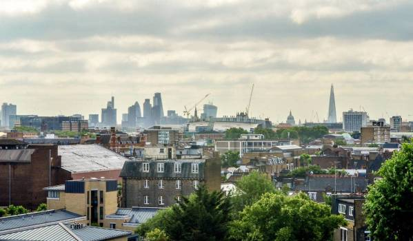 View of the London skyline from Camden
